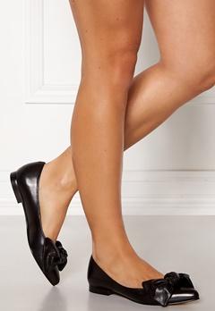 Heelow Sophia Leather Bow Svart Skinn Bubbleroom.dk