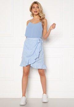 VERO MODA Henna Wrap Short Skirt Placid Blue / Dots Bubbleroom.dk