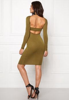 Club L High Neck Open Back Olive Bubbleroom.dk