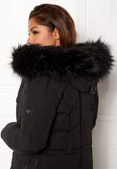 Hollies Collar Fake Fur Black Bubbleroom.dk