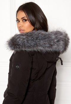 Hollies Collar Fake Fur Silver Bubbleroom.dk