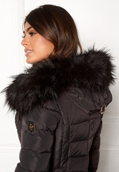 Hollies Collar Hoodedge Fake Fur Blk Bubbleroom.dk