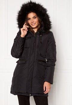 Hollies Livigno Long Coat Black/Black Bubbleroom.dk