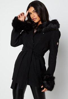 Hollies Olivia Coat Black/Black bubbleroom.dk