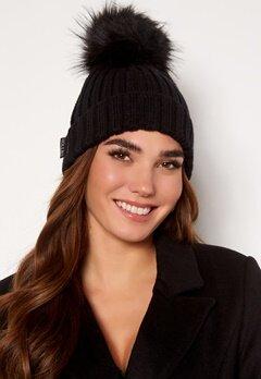 Hollies PomPom Classic Hat Black/Black Bubbleroom.dk