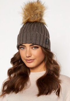 Hollies PomPom Classic Hat Taupe/Natural bubbleroom.dk