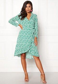 OBJECT Holly Bay S/S Wrap Dress Oatmeal Bubbleroom.dk