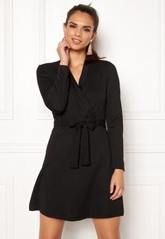 Jacqueline de Yong Honey L/S Dress Black Bubbleroom.dk