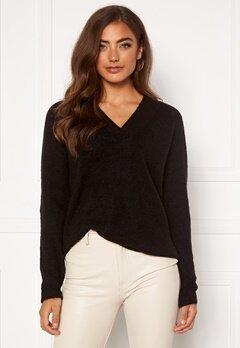 ICHI Amara V LS Sweater Black Bubbleroom.dk