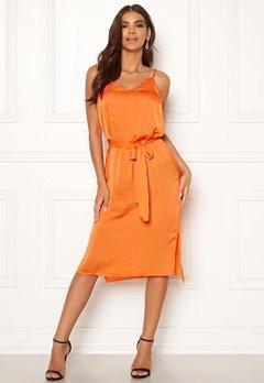 ICHI Crissy Dress 17667 Russet Orange Bubbleroom.dk