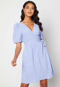 ICHI Gelby Dress Cashmere Blue Bubbleroom.dk
