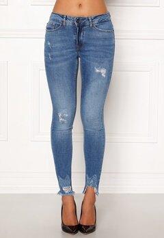 ICHI Lulu Genio Mid Blue Jeans Authentic Mid Blu Bubbleroom.dk