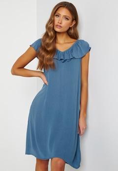 ICHI Marrakech SO Dress Coronet Blue Bubbleroom.dk