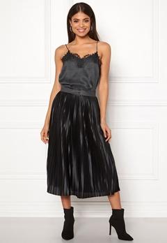 ICHI Pleat Skirt Black Bubbleroom.dk