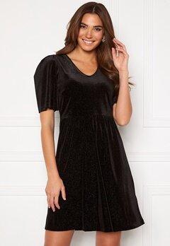 ICHI Rihanna Velvet Glitter Dress Black Bubbleroom.dk