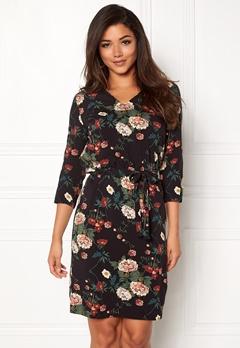 ICHI Rosa Dress Black Printed Bubbleroom.dk