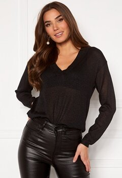 ICHI Toronto LS Sweater Black Bubbleroom.dk