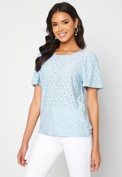 ICHI Umay T-shirt Cashmere Blue Bubbleroom.dk