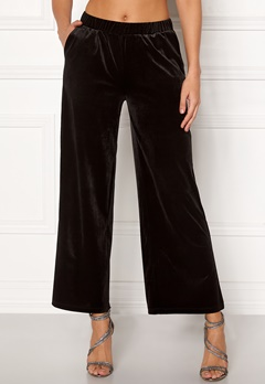 ICHI Velvet Pants Black Bubbleroom.dk