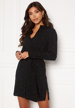 ICHI Vera Dress Black With Dot Bubbleroom.dk