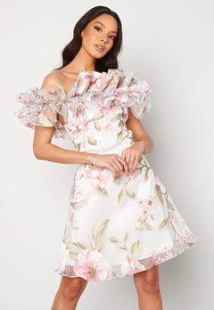Ida Sjöstedt Arielle Dress White/Pink Bubbleroom.dk