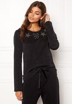 Ida Sjöstedt Magic Sweater Lurex Knit Black Bubbleroom.dk