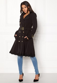 Ida Sjöstedt Novia Coat Black Bubbleroom.dk