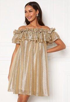 Ida Sjöstedt Siroun Dress Gold Bubbleroom.dk