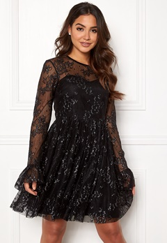 Ida Sjöstedt Tilly Dress Soft Lace Black/Silver Bubbleroom.dk