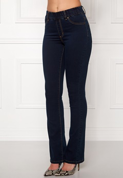 Happy Holly Elwira bootcut jeggings Dark denim Bubbleroom.dk