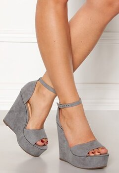 Krush Iso High Heel Sandals Grey Bubbleroom.dk