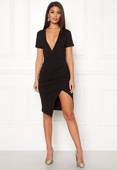 Ivyrevel Deep V-neck Slit Dress Black Bubbleroom.dk