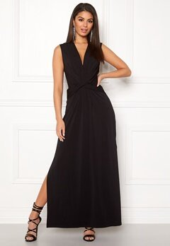 Ivyrevel Drape Front Slit Dress Black Bubbleroom.dk