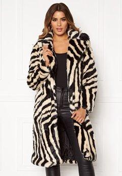 Ivyrevel Faux Fur Coat Black/White Zebra Bubbleroom.dk