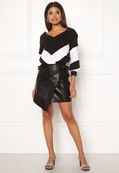 Ivyrevel High Waist Overlap Skirt Black Bubbleroom.dk