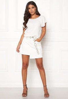 Ivyrevel Raw Edge Denim Skirt White Bubbleroom.dk