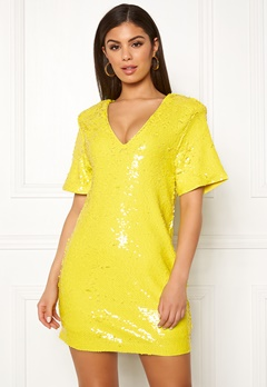Ivyrevel Sequin Dress Yellow Bubbleroom.dk
