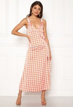Ivyrevel Split Skirt Orange Pepita Print Bubbleroom.dk