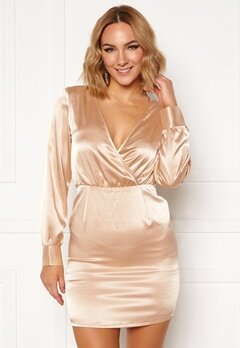 Ivyrevel V Neck Drapy Dress Gold Bubbleroom.dk