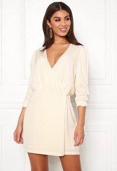 Ivyrevel Woven Wrap Mini Dress Offwhite Bubbleroom.dk
