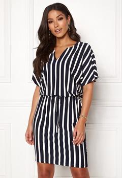 Jacqueline de Yong Alina S/S Dress Navy Blazer/Stripes Bubbleroom.dk