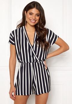 Jacqueline de Yong Alina S/S Playsuit Navy Blazer/Stripes Bubbleroom.dk