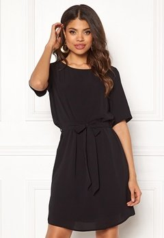 ea1ff76e Jacqueline de Yong Amanda 2/4 Belt Dress Black Bubbleroom.dk