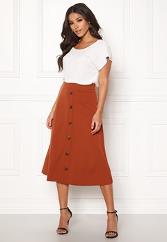 Jacqueline de Yong Bellis Button Skirt Arabian Spice Bubbleroom.dk