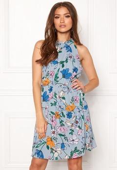 Jacqueline de Yong Chili S/L Dress Dusty Blue Bubbleroom.dk