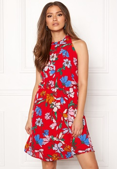 Jacqueline de Yong Chili S/L Dress High Risk Red Bubbleroom.dk