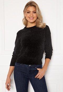 Jacqueline de Yong Chino 7/8 Pullover Knit Black Bubbleroom.dk