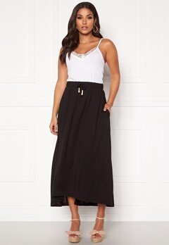 Jacqueline de Yong Dalia Frosty Long Skirt Black D:Wood Beads Bubbleroom.dk