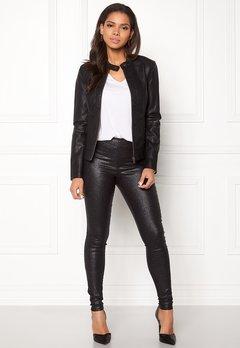 Jacqueline de Yong Dallas Faux Leather Jacket Black Bubbleroom.dk