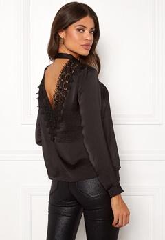 Jacqueline de Yong Fibola L/S Lace Top Black Bubbleroom.dk